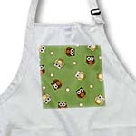 click on Cute Brown Owl and Dot Print Green to enlarge!