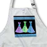 click on Purple green blue leaf dresses with turquoise blue ribbons to enlarge!