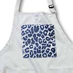 click on Denim Blue Leopard Print Animal Print Trendy to enlarge!