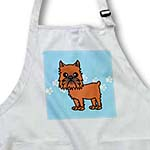 click on Cute Brussels Griffon Cropped Ears Blue with Pawprints to enlarge!