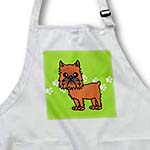 click on Cute Brussels Griffon Cropped Ears Green with Pawprints to enlarge!