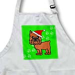 click on Cute Brussels Griffon Cropped Ears Green with Santa Hat to enlarge!