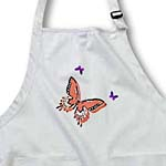 click on Peach and Purple Butterfly Trio Art Nature Designs to enlarge!