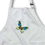 click on Blue Green and Brown Butterfly Art Nature Designs to enlarge!