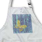 click on Blue Tie Dye Gold Butterfly Art Nature Design to enlarge!