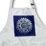 click on Turquoise and purple floral mandala on rich navy blue damask background to enlarge!
