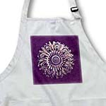 click on Plum and salmon floral mandala on plum purple damask background to enlarge!