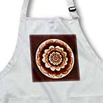 click on Chocolate and coffee fantasy mandala flower on rich chocolate background to enlarge!