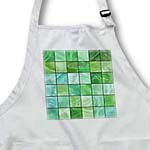 click on Spring Green Aqua Glass Tiles Print to enlarge!