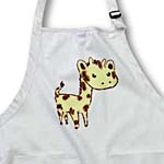 click on Cute Yellow Giraffe Larger Animals Cartoon Art to enlarge!