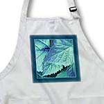 click on Turquoise and cobalt blue metallic leaves with teal blue frame to enlarge!
