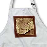 click on Antique gold metallic leaves with milk chocolate frame to enlarge!