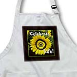 click on Yellow sunflower celebrate life with black frame to enlarge!