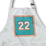 click on Number 22 in white trimmed in indian red on a turquoise background trim indian red and white to enlarge!