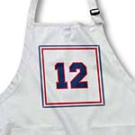click on Number 12 in dark blur trimmed in red on a white background outer trim red, white, blue to enlarge!