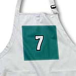 click on Number 7 in white trimmed in black on Forest Green background to enlarge!