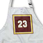 click on Number 23 in white trimmed in gold on a maroon background outer trim white, gold, maroon to enlarge!