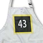 click on Number 43 in white on dark gray background trimmed in gold and white to enlarge!