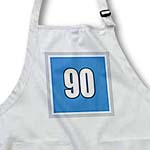 click on Number 90 in white trimmed in silver and black on a steel blue background trim white, silver to enlarge!