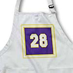 click on Number 28 in white trimmed in gold on deep purple background. Outer trim is gold,white, gold to enlarge!