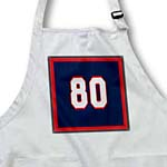 click on Number 80 in white trimmed in crimson red on a navy blue background. Outer trim crimson red to enlarge!