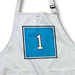 click on Number 1 in white on trimmed in black on a baby blue background. Outer trim is silver and black to enlarge!