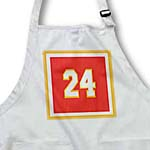 click on Number 24 in white trimmed in gold on a Crimson red background. Outer trim in white, gold. to enlarge!