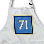 click on Number 71 in white trimmed in navy blue and gold on a light blue background. Outer trim navy, gold to enlarge!