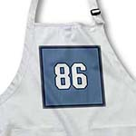 click on Number 86 in white trimmed in navy blue on steel blue background. Outer trim is navy blue. to enlarge!