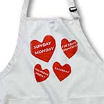 click on Red Hearts With Days Of Week to enlarge!