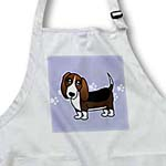 click on Cute Basset Hound - Cartoon Dog - Blue with Pawprints to enlarge!