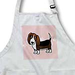 click on Cute Basset Hound - Cartoon Dog - Pink with Pawprints to enlarge!