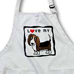 click on I Love My Basset Hound - Red Heart to enlarge!