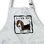 click on I Love My Basset Hound - Blue Heart to enlarge!