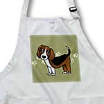 click on Cute Beagle - Cartoon Dog - Green with Pawprints to enlarge!