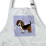 click on Cute Beagle - Cartoon Dog - Blue with Pawprints to enlarge!