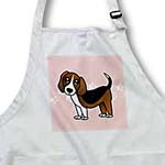 click on Cute Beagle - Cartoon Dog - Pink with Pawprints to enlarge!