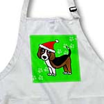 click on Cute Beagle - Cartoon Dog - Green with Santa Hat to enlarge!