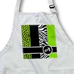 click on Elegant Animal Print Monogram - Green A to enlarge!