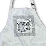 click on Adorable Baby Elephant On Dotted Gray and White to enlarge!