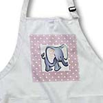 click on Adorable Baby Elephant On Dotted Pink to enlarge!