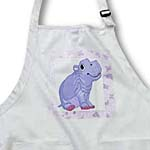click on Adorable Violet Hippo On Violet Butterfly Background to enlarge!