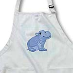 click on Cute Baby Blue Hippo On Blue Dotted Back to enlarge!