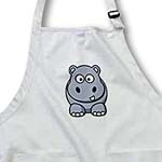 click on Comical Gray Hippo On Dotted Gray and White to enlarge!