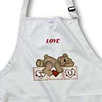 click on Adorable Teddy Bear On I Luv U Blocks to enlarge!