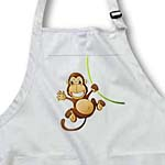 click on Cute Cartoon Monkey On Green Vine to enlarge!