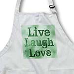 click on Stained Glass Green Live, Laugh, Love- Inspirational Words- Motivational to enlarge!