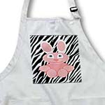 click on Pink Bunny On Zebra Background to enlarge!