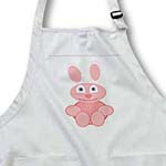 click on Cute Pink Bunny On White to enlarge!