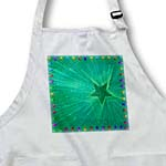 click on Green Christmas Lights Starburst- Holiday Art to enlarge!